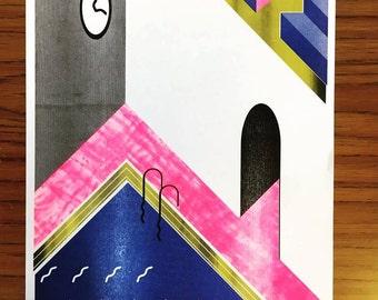 Pool A3 Art Print