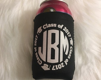 Class of 2017 Mongram Can Cooler   Class of 2017 Can Hugger   Graduation Can Hugger   Graduation Can Cooler   Graduation Party Favor