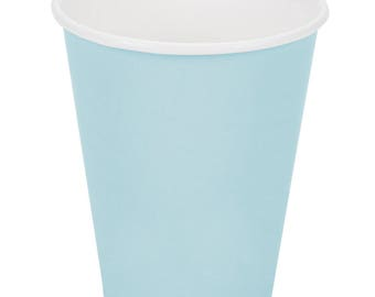 100 ct Pastel Blue Poly Paper Cup 9oz Hot/Cold, Party Supplies, Wedding Supplies, Party, Wedding, Paper Cups, Beverage Cups, Cups, Supplies
