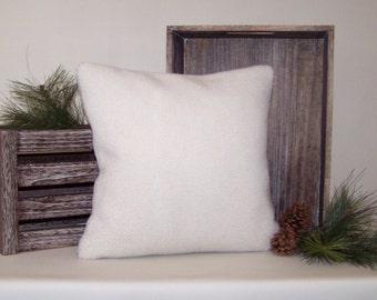 Off-White Berber Fleece Pillow Cover 16x16