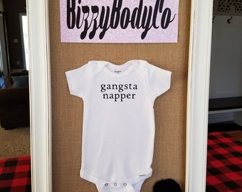 Gangsta Napper Onesie- 6-9Months, Gerber Onesie, Funny Onesie, Gender Neutral Onesie, Baby Shower Gift
