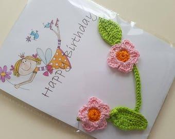 Birthday gift  Crochet flowers Bunting /  Garland