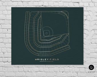 "Wrigley Field Print - 8"" x 10"" - Fan Art - Chicago Cubs Print 