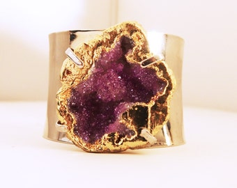 Steel and crystals bracelet