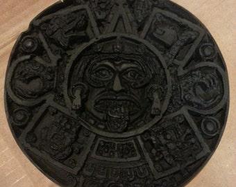 Indiana Jones Idol Fertility Aztec Mayan Circular Display Stone Replica