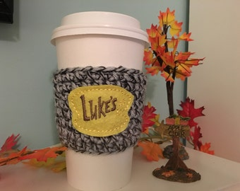Gilmore Girl Coffee Cozy/Luke's Coffee/Coffee Cozy/Coffe Sleeve
