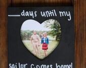 Chalkboard countdown fram...