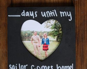 Chalkboard countdown frame