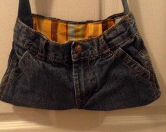 Handmade Refurbished Lined Denim Bag