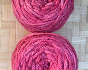 Luxury Chunky Pure Merino Wool in bright pink