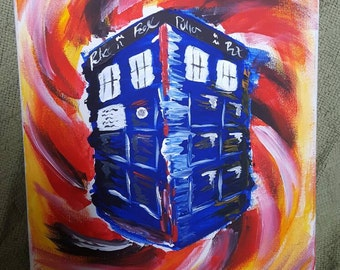 Abstract TARDIS in Time Vortex