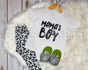 Mama's Boy Kids Infant or Toddler   T-shirt top Custom Colors available graphic t
