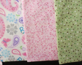 3 Extra Large Thick Solf Flannel Burp Cloths