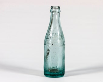 Vintage 1920's  Whistle Bottling Co. Soda Bottle. Vintage Soda Bottle - Aqua Glass Collectible - Vintage Glass -  Vintage Aqua Soda Bottle