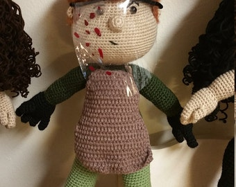 Dexter crochet made to order doll (mini size available also on site)