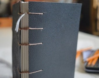 hand bound recycled book
