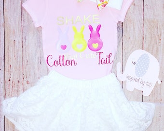 Easter Bunny Shirt, Cotton Tail, Easter shirt, Toddler, Baby