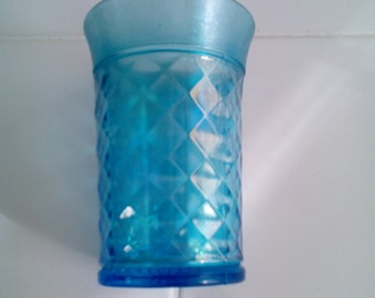 Carnival Glass Tumbler - Concave Diamonds