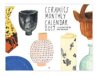 2017 Illustrated Ceramics Wall Calendar