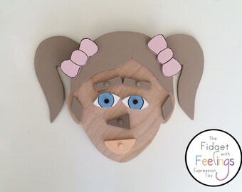 Feelings Toy / Feelings Game / Emotional Development/ Montessori Toy /Waldorf toy / Wooden toy / Therapy Toy / Educational / Emotion game