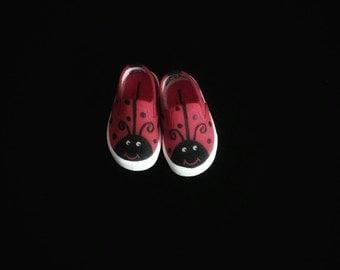Ladybug Shoes; Hand painted