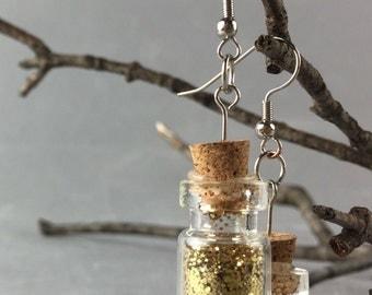 Glitter Jar Earrings