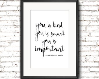 A4 'The Help' Quote Print