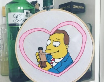 LIONEL HUTZ - The Simpsons Embroidery