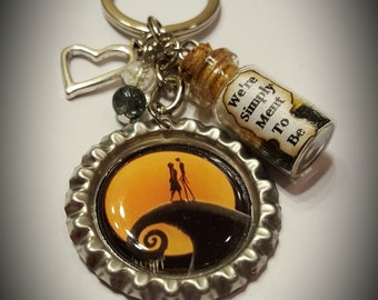 The nightmare before Christmas inspired keychain