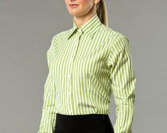 Green Jungle Stripes Business Shirt
