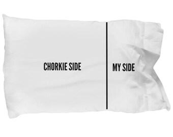 Chorkie Side Pillowcase - Funny Chorkie Pillow Case - Chorkie Gifts - Chorkie Dog Side My Side