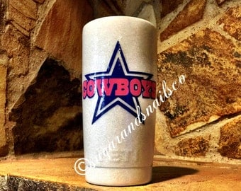 Custom glitter cowboys yeti, dallas cowboys yeti, 20 oz
