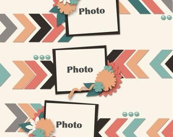 57 Chevies Digital Scrapbooking Templates #3