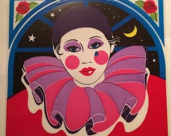 Sandylion vintage 1984 very rare large window sticker - clown