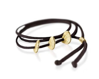 Friendship bracelet with initials and polo player.
