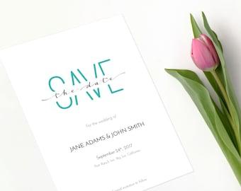 Save the Date, customizable design, modern, fun, printable
