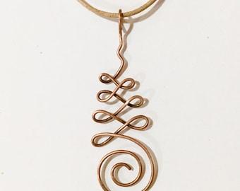 Copper Unalome Symbol Necklace