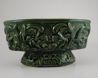 McCoy Pottery in two Colors (Green and Light Pea Green) Oval  Planter 1940's