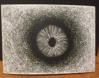 Spore Print Scratch Art Drawing