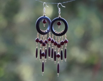 Earrings made of wood