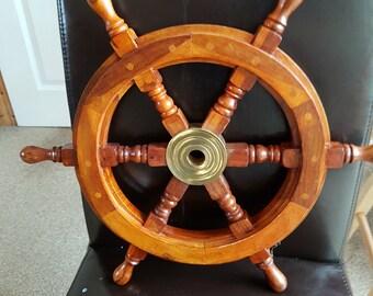 Teak Boat helm