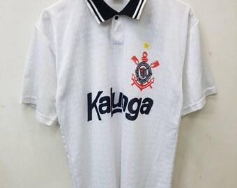 Vintage S.C. Corinthians Paulista Football Kalunga Jersey  Nice Design