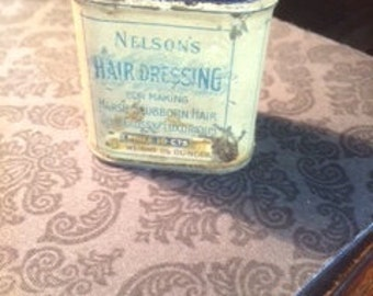 Nelson's Hair Dressing Tin