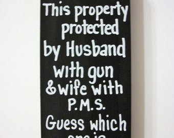 Funny Gun Sign Etsy
