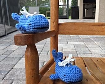 Whale  Baby Booties crochet