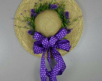 Straw hat door and house  decor