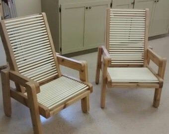 Outdoor Cedar and CPVC Chairs Handmade