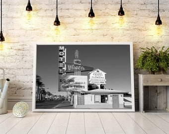 Las Vegas Chapel Hotel Photo, Los Vegas Nevada, Engagement Gift, Wedding Gift, Wall Decor
