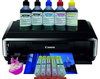 Home Media edible Canon A4 printer package with Refillable cartridges IP7250