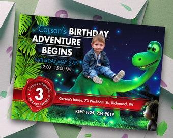 The Good Dinosaur Invitation, Good Dinosaur Birthday Invitation, Good Dinosaur Party, Good dinosaur invite, Dinosaur Party Kit